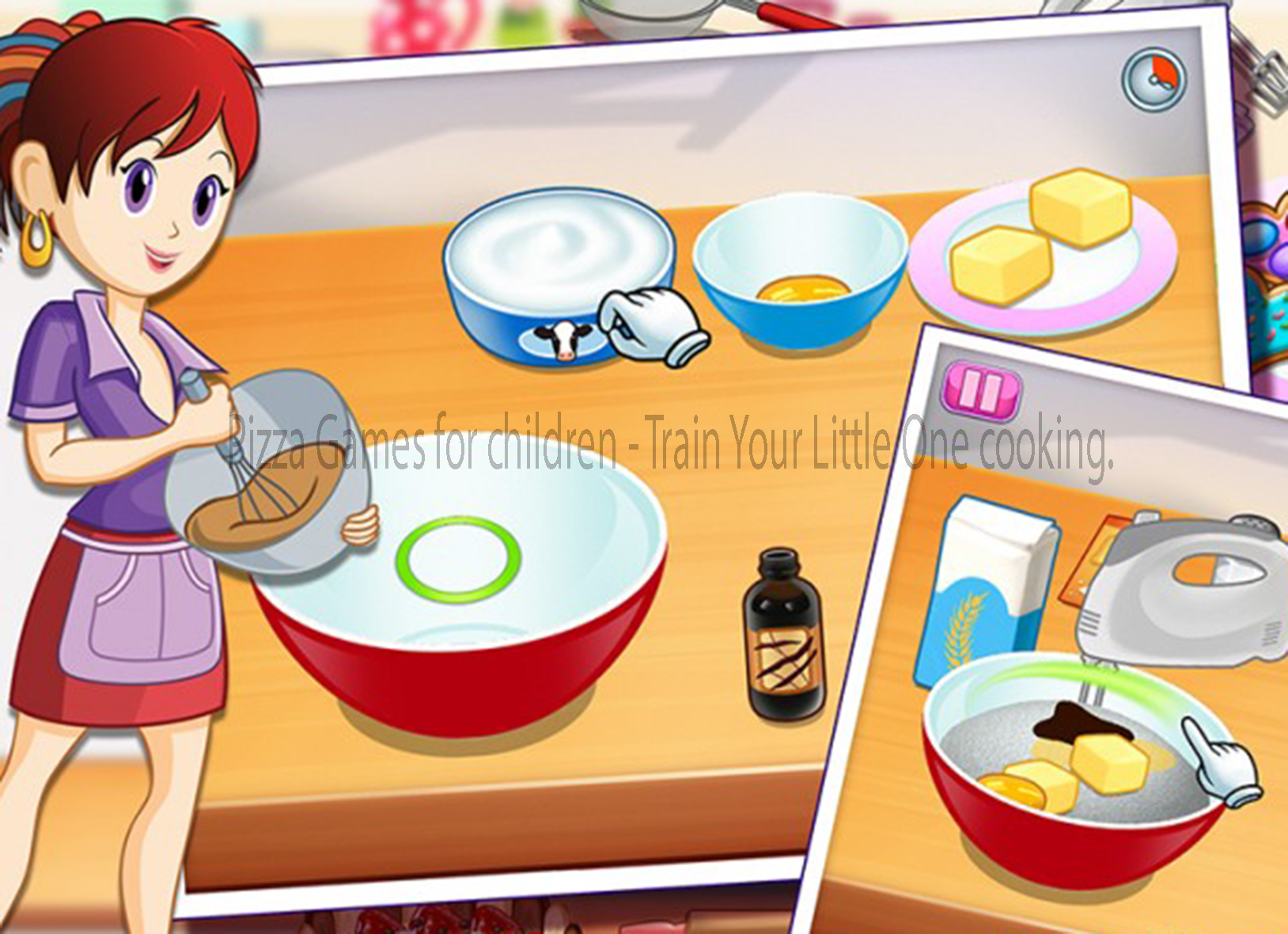 Pizza Games for children - Train Your Little One cooking